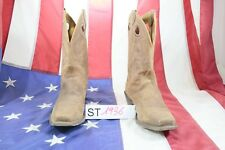 Boots JUSTIN (Cod. ST1936)USATO N.9,5 MAN Brown leather Cowboy Country Bikers
