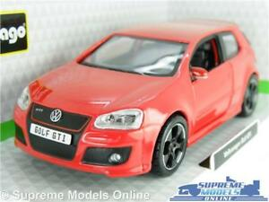 VOLKSWAGEN VW GOLF GTI MODEL CAR 1:32 SCALE RED HATCHBACK BURAGO K8