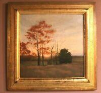Original Oil Painting Signed Framed Landscape on Panel By Artist Brad Aldridge