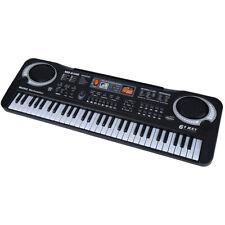 61 Key Electronic Keyboard Sets Music Electric Digital Piano Organ w/ Mic Black