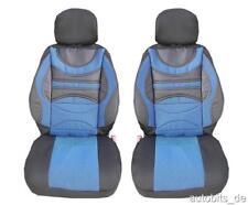 2x Bleu Housse de siège sport polyester pour Peugeot Renault Seat Skoda