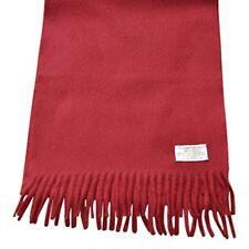 Lambswool Angora Scarf - Dark Red - 75% Lambswool 25% Angora