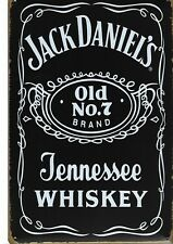 New Vintage Style Retro Metal Wall Hanging Sign Jack Daniels Iconic