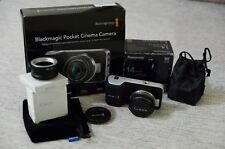Blackmagic Pocket Cinema Kamera mit Objektiv Panasonic Lumix G 14mm F2.5 Camera