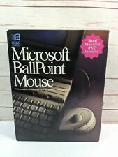 Vtg Microsoft Ballpoint Mouse For Microsoft Windows Compatible PS/2 System