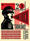 Shepard Fairey Obey Punk Rock Bowling SIGNED Print Screen Ltd edition /500