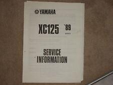 Yamaha XC 125 MAINTENANCE MANUAL SERVICE INFORMATION SERVICE HANDBOOK 89