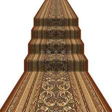 Teppichläufer Läufer Orientalisch mit Umrandung Harmonie AR Braun 4 Breiten