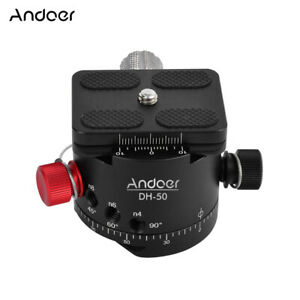 Andoer DH-50 Panoramic Ball Head Indexing Rotator Tripod Head for DSLR Cam S3B8