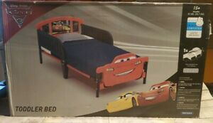 Toddler Bed Frame w No Mattress Girls Boy Race Cars 3 Kids Bedroom Furniture Set