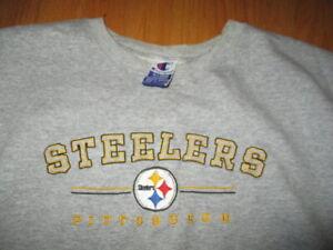 Vintage Champion Label - PITTSBURGH STEELERS Embroidered (XL) Sweatshirt
