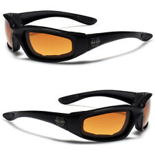 Black Choppers HD Motorcycle Riding Vision Goggles Padded Sport Biker Sunglasses