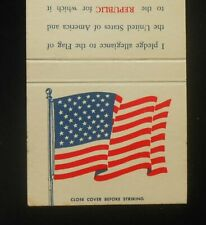 1960s United States Flag Pledge of Allegiance Patriotic Old Glory Matchbook