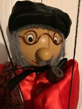 """14"""" Smart Grandfather Puppet With Pocket Watch Mint But No Box"""