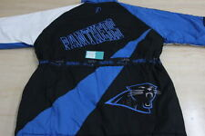VINTAGE PRO-LAYER NFL CAROLINA PANTHERS PARKA JACKET BLUE BLACK X-LARGE XL