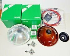 Genuine Lucas H4 Halogen Headlight Headlamp Lighting Kit MGA MGB With Relay Kit
