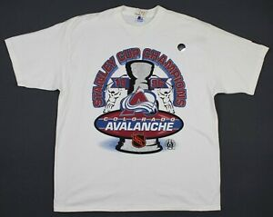 New Vintage Colorado Avalanche 1996 Stanley Cup Champs Starter T-Shirt XL/2XL