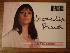 THE WOMEN OF THE AVENGERS: AUTOGRAPH CARD: JACQUELINE PEARCE AS MARIANNE