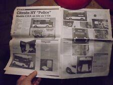 Ancien Article la Vie du Jouet Citroen HY C.H.R CHR en Tôle 1/13e Mike Duprat