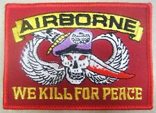 """Toppa/Patch Vintage """"AIRBORNE U.S.A. - """"We kill for Peace"""" - (America Old Style)"""