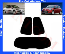 Pre-Cut Window Tint Renault Clio 3D 2006-2011 Rear Window & Rear Sides Any Shade