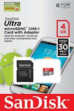 Memory card SanDisk per cellulari e palmari con 4 GB di archiviazione