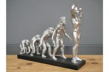Human Evolution Antique Silver Resin Tabletop Ornament