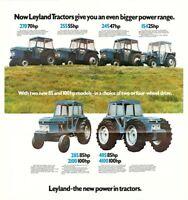 Vintage British Leyland Field Marshall Range Tractor Poster Brochure (A3)