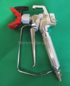 Airless Paint Spray Gun fitted with Guard and 517 Nozzle. Airless Sprayer gun