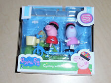 Peppa Pig 2 Toy Figures Cycling with Friends Suzy Sheep NIP