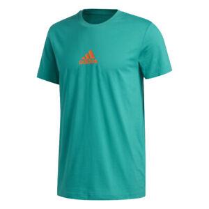 Adidas Men's Lil Stripe Crew Tee Shirt, Glory green