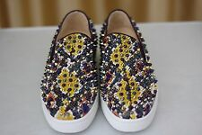 NEW CHRISTIAN LOUBOUTIN Roller Boat Flat Spikes Python Sneaker Loafers Shoe EU39