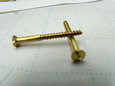 """Brass Slotted Flat Head Wood Screw, #6 x 1 1/2"""", Qty 265   USA"""