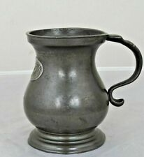 More details for ½-pint pewter mug/measure, james dixon & son, sheffield, george iv plaque, c1826