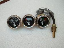 Oil Temp Amp Gauge fits IH/Farmall H, I4,I6,I9, M,O4,OS4,O6,OS6, TD6,W6, W9,WD9