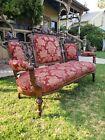 Antique Victorian Sofa  Vintage Renaissance revival