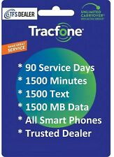 TracFone Refill For Smart Phones: 90 Service Days 1500 mins/1500Text/1500MB Data