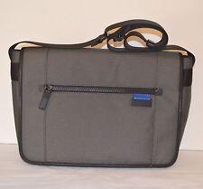New $228 Michael Kors Travis Large Messenger Bag Charcoal Grey Briefcase Laptop