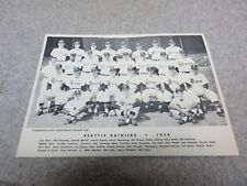 1959 SEATTLE RAINIERS Pacific Coast League Professional BASEBALL TEAM PHOTO 9 x7