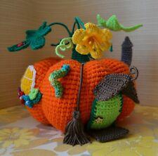 Crochet pumpkin Stuffed Knitted toy Amigurumi plush casket house home vegetable