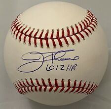 JIM THOME SIGNED MLB BASEBALL 612 HR INDIANS PHILLIES WHITE SOX BECKETT BAS COA