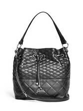 Guess Kiley Bucket Bag Crossbody Handbag Purse Black NWT