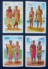 Kenya Kenia 2007 Stammestrachten Trad. Costumes Trachten 807-10 Postfrisch MNH