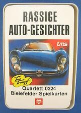 Quartett - RASSIGE AUTO-GESICHTER - BIELEFELDER - Nr. 0224 - von 1971 - Auto