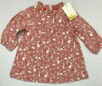NWT Baby Boden Girls 0-3 Months Dusty Pink Fairy Garden Dress $34