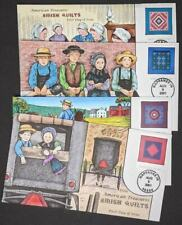 EDW1949SELL : USA 2001 Sc #2324-27 Cplt Amish Quilts Collins Hand Painted FDC