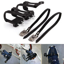 1Pair Nylon Cycling Road Mountain Bike Bicycle Pedal Toe Clip Strap Belt
