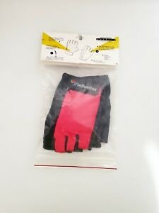 NEW BELLWETHER'S Fingerless Cycling Gloves Size Small Pink & Black