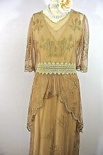 Gatsby Style dresses Victorian Mother of the Bride Brown Lace formal Nataya S