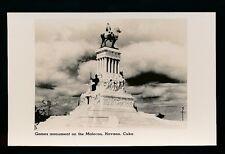 Caribbean Cuba HAVANA Monument on Malecon Cunard Liners c1920/30s? RP PPC